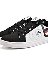 Men's Sneakers Comfort Light Soles Summer Fall PU Casual Outdoor Flat Heel Black/Red Black/White Black Flat