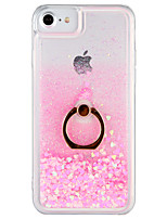 economico -Custodia Per Apple iPhone 7 Plus iPhone 7 Liquido a cascata Supporto ad anello Per retro Glitterato Resistente PC per iPhone 7 Plus
