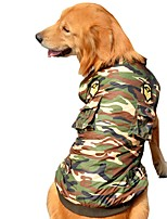 Dog Coat Vest Dog Clothes Party Casual/Daily Keep Warm Sports Police/Military Camouflage Color