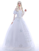 Women Layered Princess Dress Cosplay Costume Halloween Holiday Women Long Fluffy Dress