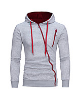Men's Casual/Daily Vintage Hoodie Color Block Hooded Micro-elastic Cotton Polyester Long Sleeve Fall Winter