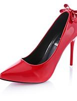 Damen High Heels Komfort PU Sommer Kleid Schleife Stöckelabsatz Schwarz Grau Rot Rosa 5 - 7 cm