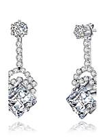 Women's Drop Earrings Rhinestone Hip-Hop Luxury Chrismas Elegant Cubic Zirconia Rhinestone Geometric Jewelry ForOffice & Career Valentine