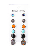 The 6 Bohemia Vintage Jewelry Multicolor Suit Alloy Earrings