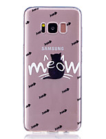 Case for Samsung Galaxy S8 Plus S8 Transparent Pattern Back Cover Cat Animal Soft TPU S7 Edge S7