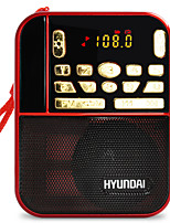 H1 Radio portable Lecteur MP3 Carte SDWorld ReceiverRouge