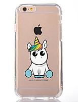 For iPhone X iPhone 8 Case Cover Transparent Pattern Back Cover Case Unicorn Cartoon Soft TPU for Apple iPhone X iPhone 8 Plus iPhone 8