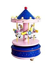 Music Box Toys Horse Carousel Plastics Pieces Kid Unisex Valentine's Day Gift