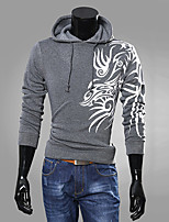 Hot Sale  Men's Sports Holiday Dragon Pattern Printing Hoodie Lerrer Print Hooded Cotton Long Sleeve Fall Winter Hoodies Pullover Chandal Man