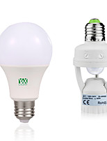14W E27 LED Globe Bulbs 30 leds SMD 2835 Decorative Human Body Sensor Warm White White 1250-1450lm 6000-6500/2800-3200K AC85-265V