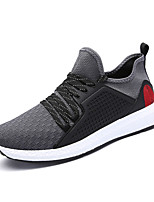 Men's Sneakers Comfort Light Soles Fabric Summer Fall Casual Outdoor Flat Heel Blue Gray Black Running Shoes