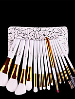 MSQ Make-Up Pinsel Set Professionelle 15 stcke Weiche Synthetische Haar Natrliche Holzgriff Bilden Pinsel Kit Mit Pu-leder fall