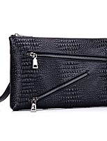 Unisex Bags All Seasons Cowhide Clutch Rivet for Event/Party Formal Office & Career Black