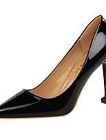 Для женщин Обувь на каблуках Удобная обувь Осень Зима Дерматин Для праздника Для вечеринки / ужина На шпильке Золотой Черный Серебряный