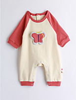 Baby Color Block One-Pieces,Cotton Spring/Fall Long Sleeve