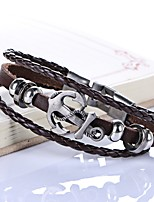 Men's Women's Leather Bracelet Handmade Punk Leather Circle Jewelry For Wedding Daily Casual Going out Street