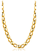 Men's Women's Chain Necklaces Jewelry Geometric Gold Plated Gothic Fashion Adjustable Rock Cross Jewelry ForParty Holiday Christmas Going
