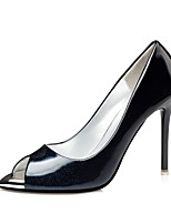 Women's Heels Basic Pump PU Spring Fall Casual Office & Career Party & Evening Stiletto Heel Ruby Silver Black Gold 4in-4 3/4in
