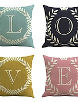 Set Of 4 Romance Family Love Pillow Cover Fashion Sofa Pillow Case