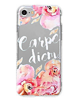 Case for iPhone 7 Plus iPhone 6 word/phrase Flower Pattern Phone Soft Shell for iPhone 7 iPhone 6/6s Plus iPhone 6/6s iPhone5 5s SE