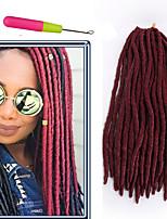 soft faux locs crochet hair kanekalon crochet braiding hair braids extensions 14 18 inch soft dreadlocs 6-8pcs/head havana mambo goddess fauxlocs