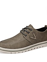Men's Sneaker Driving Shoe Comfort Light Sole Fall Winter Oxford PU Casual Office & Career Lace-up Flat Heel Khaki Coffee Black Flat