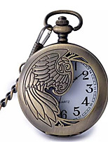 Men's Women's Pocket Watch Quartz Alloy Band Bronze