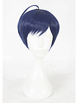 Parrucche sintetiche Senza tappo Pantaloncini Lisci Blu Parrucca Cosplay costumi parrucche