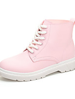 Women's Boots Comfort Leather Summer Fall Casual Outdoor Flat Heel Blushing Pink Black White Flat Fashion Boots