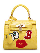 Women Bags All Seasons PU Tote for Event/Party Casual White Black Yellow