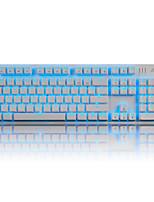 ajazz ak52 tastiera meccanica retroilluminazione asse rosso 104 gioco per computer chiave lol