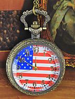 Муж. Жен. Карманные часы Кварцевый сплав Группа Бронза