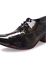 Men's Shoes Patent Leather Fall Winter Formal Shoes Oxfords For Casual Party & Evening Office & Career Gold Gray Blue