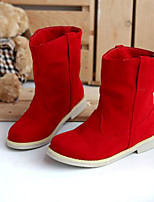 Women's Shoes PU Fall Comfort Boots For Casual Yellow Red Green
