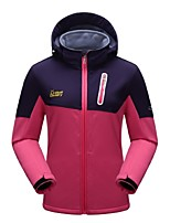 Women's Hiking Fleece Jacket Windproof Wearable Breathability Stretchy Full Length Visible Zipper Fleece Jacket Softshell Jacket Winter