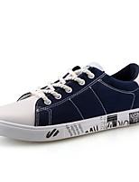 Da uomo Sneakers Comoda Primavera Autunno PU (Poliuretano) Casual Lacci Piatto Nero Grigio Rosso Blu Piatto