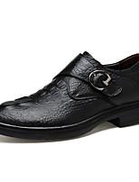 Homme Chaussures Cuir Hiver Automne Confort Chaussures formelles Mocassins et Chaussons+D6148 Marche Boucle pour Soirée & Evénement Noir