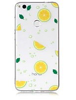 cheap -Case For Huawei / Huawei P8 Lite Transparent / Pattern Back Cover Fruit Soft TPU for P10 Lite / P10 / P8 Lite (2017)