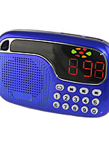 L-21 Radio portable Lecteur MP3 Carte TFWorld ReceiverRouge Bleu