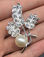 Women's Silver Brooches Floral Alloy Rose Jewelry For Wedding Party Gift Daily Evening Party