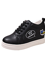 Women's Sneakers Formal Shoes PU Fall Casual Dress Flat Heel Yellow Black White 1in-1 3/4in