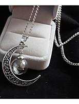 Femme Pendentif de collier Lune Alliage Mode Vintage Bijoux Pour Mariage Soirée Anniversaire Quotidien
