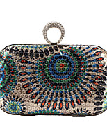 Women Bags All Seasons Polyester Evening Bag Rhinestone Sequined for Wedding Event/Party Formal Blue Gold Green Red Gray
