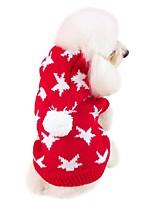 Hund Mäntel Hundekleidung Lässig/Alltäglich Neujahr Sterne Rot Blau