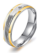 Men's Band Rings Vintage Elegant Costume Jewelry Fashion Titanium Steel Circle Jewelry For Wedding Engagement Daily Ceremony Evening Party