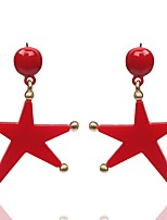 Women's Drop Earrings Jewelry Floral Gray Pearl Star Jewelry For Party Gift Evening Party Stage