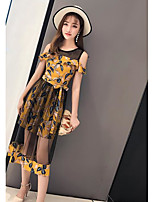 Women's Casual/Daily Simple Summer T-shirt Skirt Suits,Leaf Round Neck Sleeveless