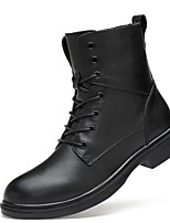 Women's Boots Fashion Boots Motorcycle Boots Combat Boots Real Leather Cowhide Nappa Leather Fall Winter Casual Outdoor Office & Career