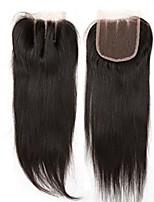 Chiusura frontale del merletto dei capelli diritti di 4x4inch chiusura remy dei capelli umani 8-20inch dei capelli del bambino 3 parte