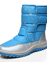 Women's Boots Snow Boots Fashion Boots Winter Synthetic Microfiber PU Casual Office & Career Outdoor Magic Tape Flat Heel Gray Blue
